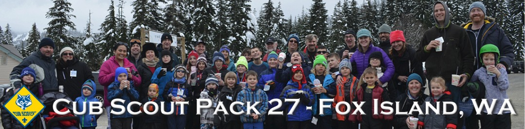 Cub Scout Pack 27 of Fox Island, WA